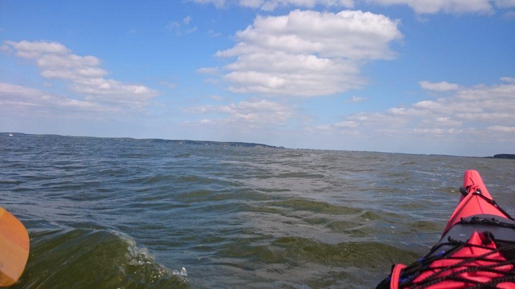 Peenestrom - Blick auf Halbinsel Gnitz