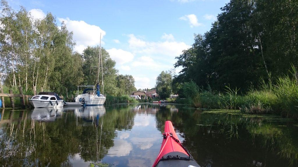 Peenestrom - Zufahrt Naturcamping Lassan