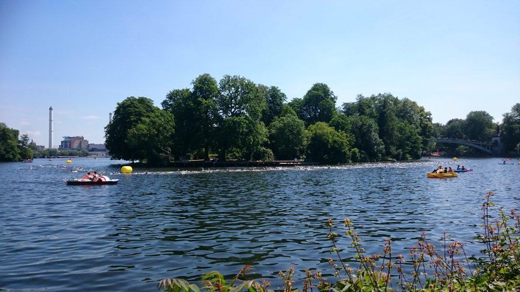 Spree bei Treptow - Insel der Jugend - Triathlon Schwimmen